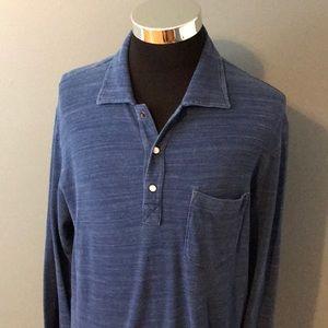 Ermenegildo Zegna mens L long sleeve polo shirt